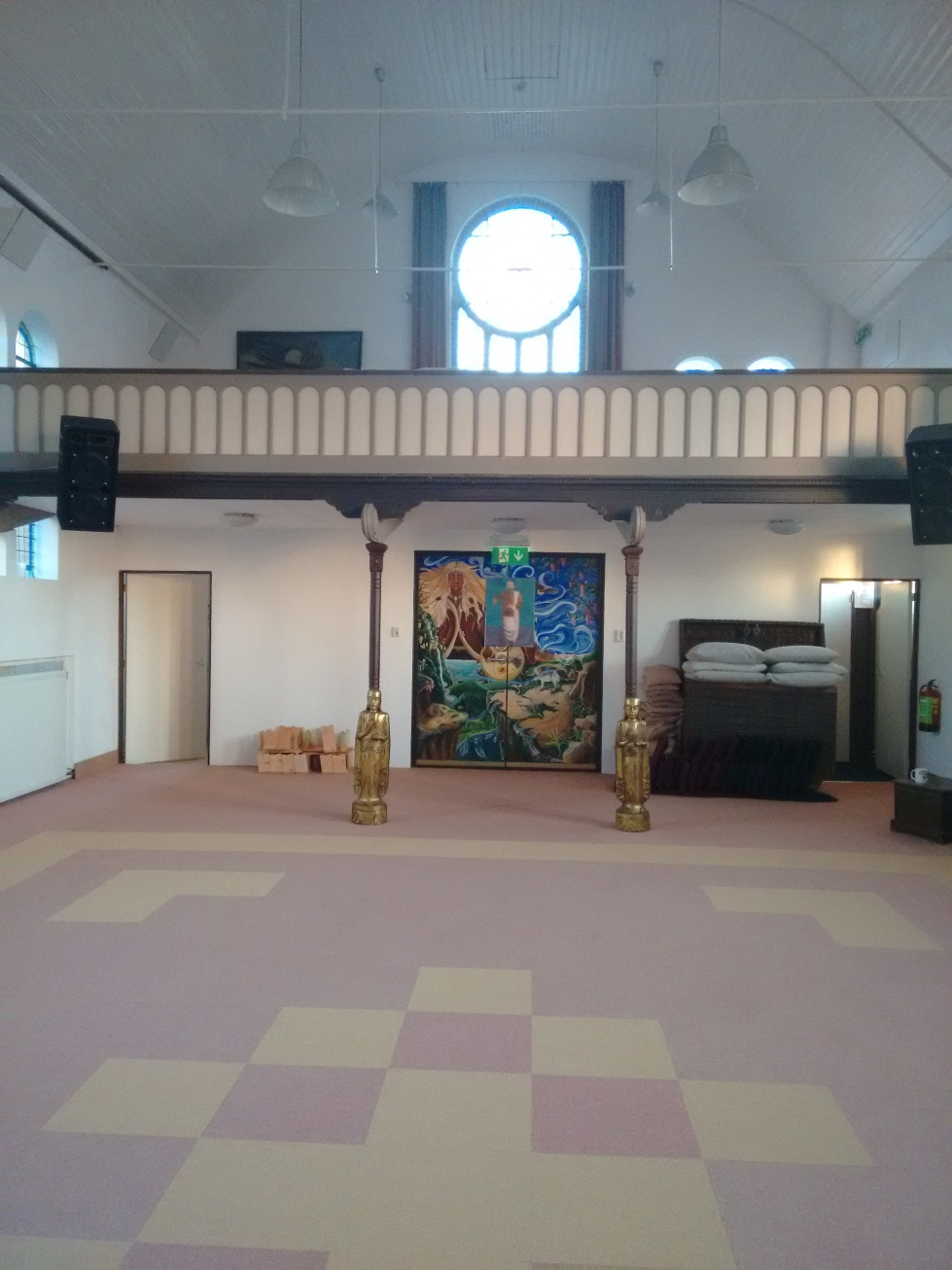 The prayer hall as it was...